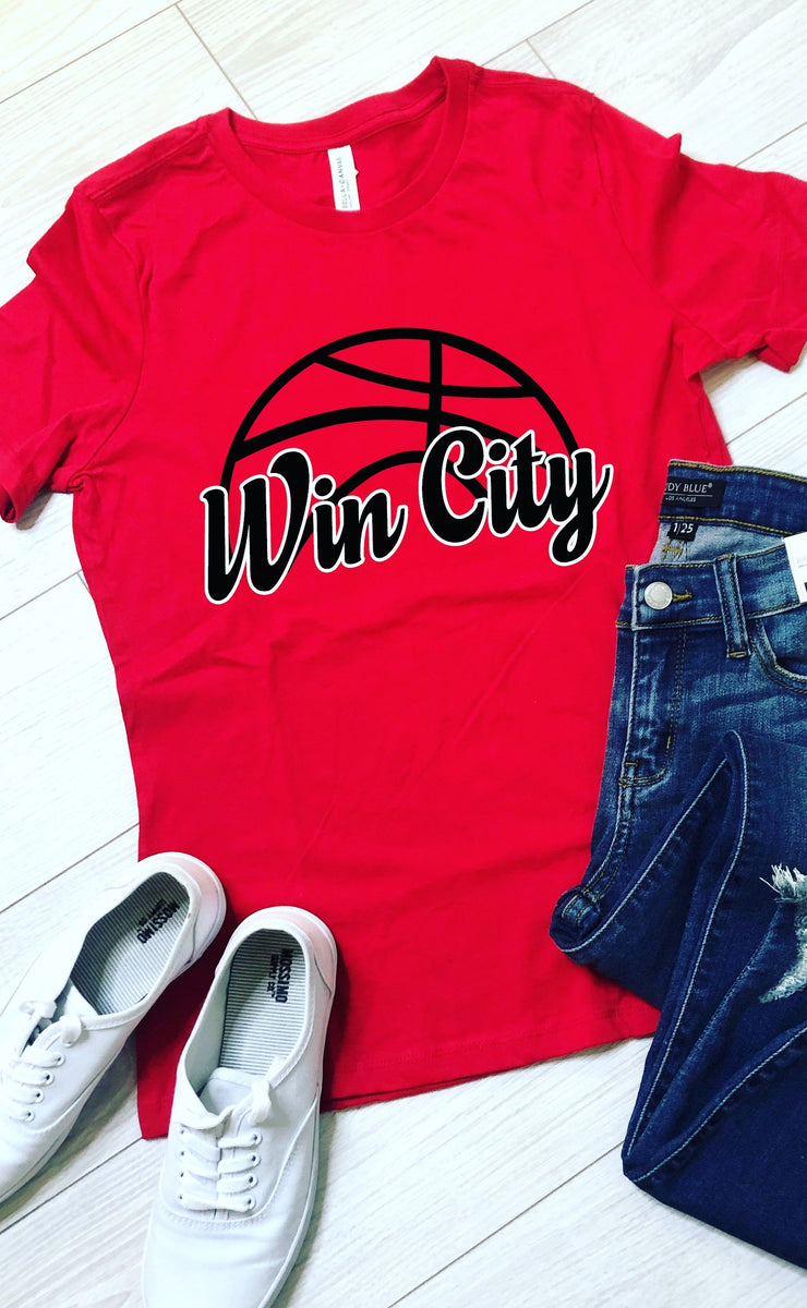 Win City Basketball Tee - Red