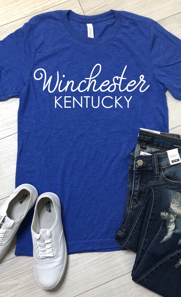 Winchester Kentucky Tee - Royal Blue