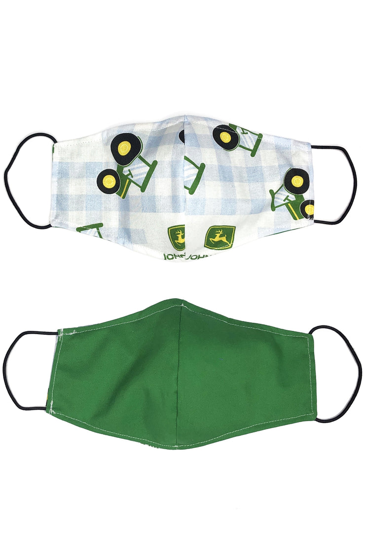 Reversible Cotton Face Mask - John Deere & Gingham
