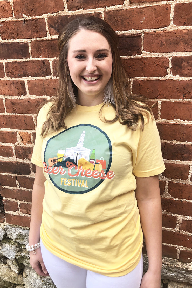 Beer Cheese Festival Tshirt - Yellow