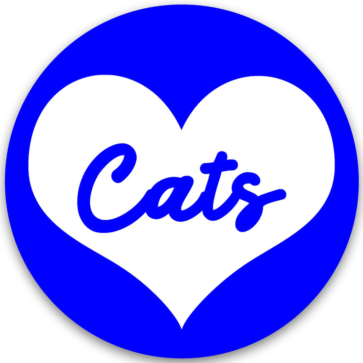 Cats Heart Gameday Button