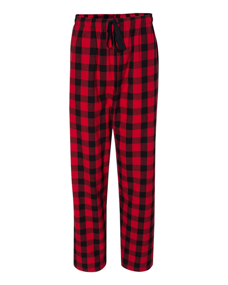 Buffalo Plaid Pajama Pants - Unisex - Red & Black