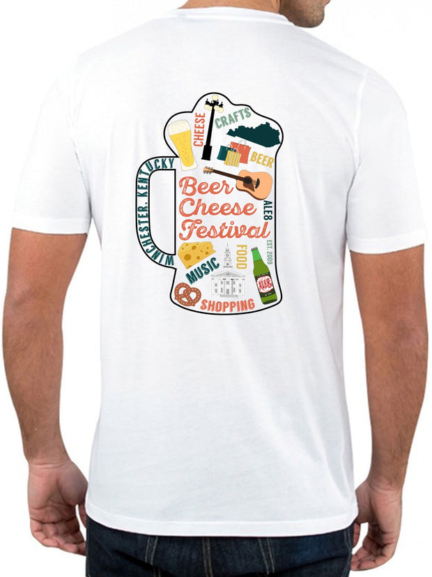 Beer Cheese Festival Tshirt Mug - White