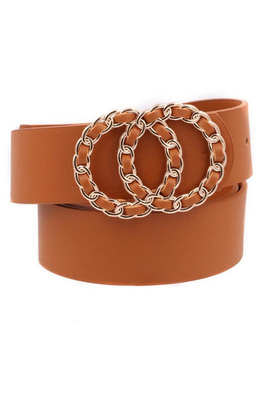 Combs Double Buckle Belt - Brown