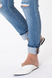 [ KANCAN ] Poppy Cuff Jeans - Medium Denim