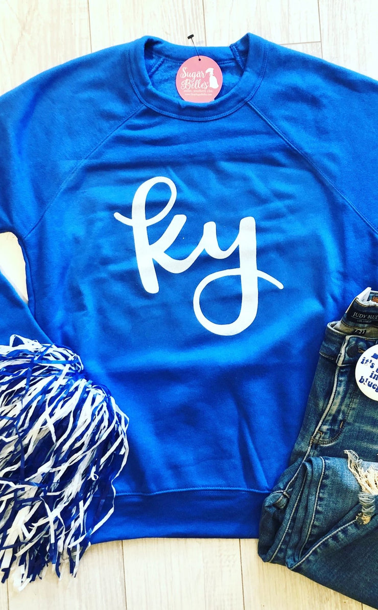 KY Script Sweatshirt - Royal Blue