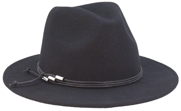 Cole Panama Hat - Black