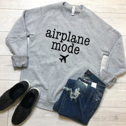 Airplane Mode Sweatshirt - Grey