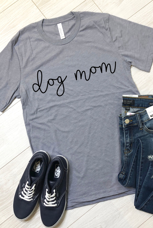 Dog Mom Tee - Grey