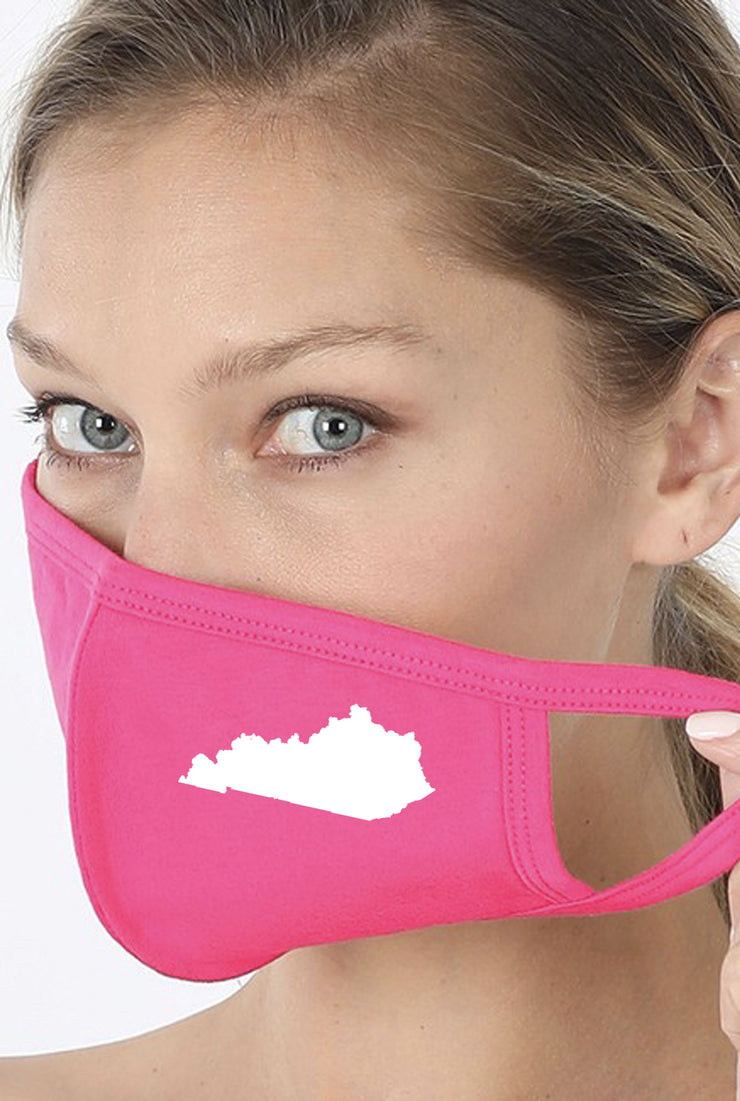 Kentucky State Face Mask - Pink