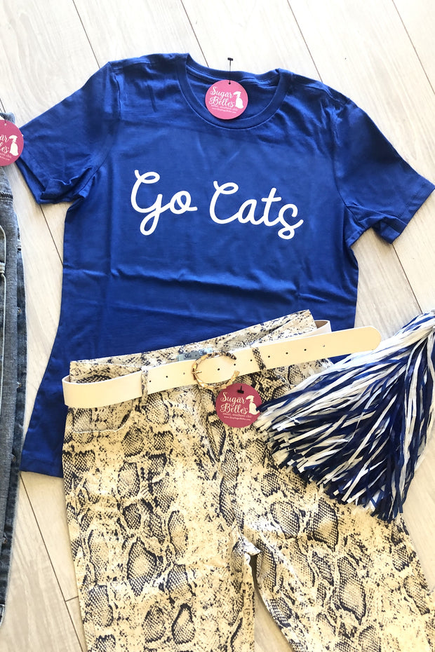 Go Cats Tee - Royal Blue