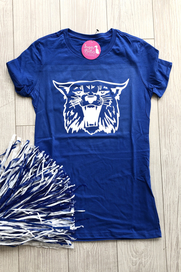 Wildcat Tee - Royal Blue