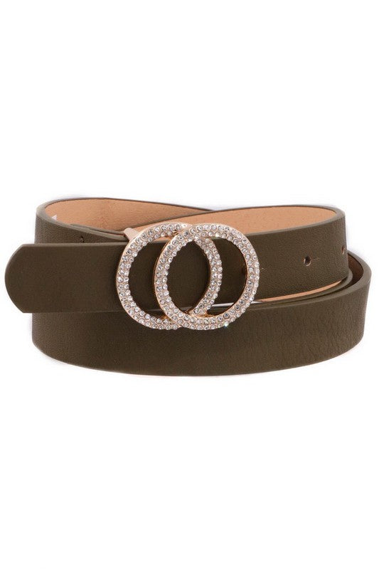 Roxie Buckle Belt - Olive
