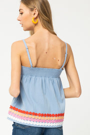 Vera Paperbag Top - Chambray - FINAL SALE