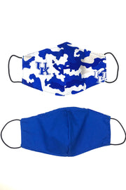 Reusable Cotton Face Mask - Kentucky Camo Blue