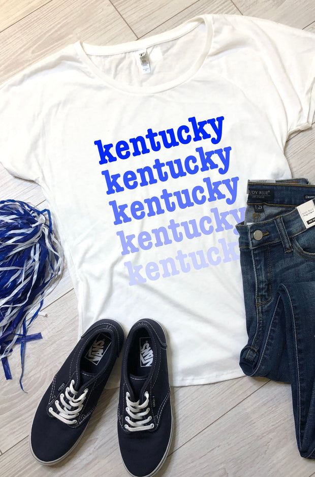 Kentucky Ombre Tee - White