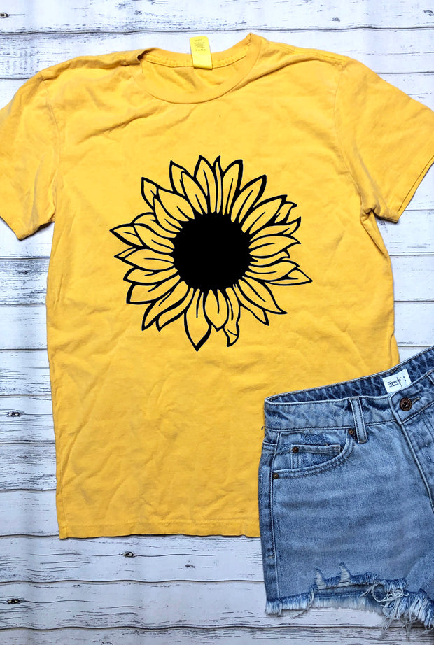 Sunflower Tee - Mellow Yellow