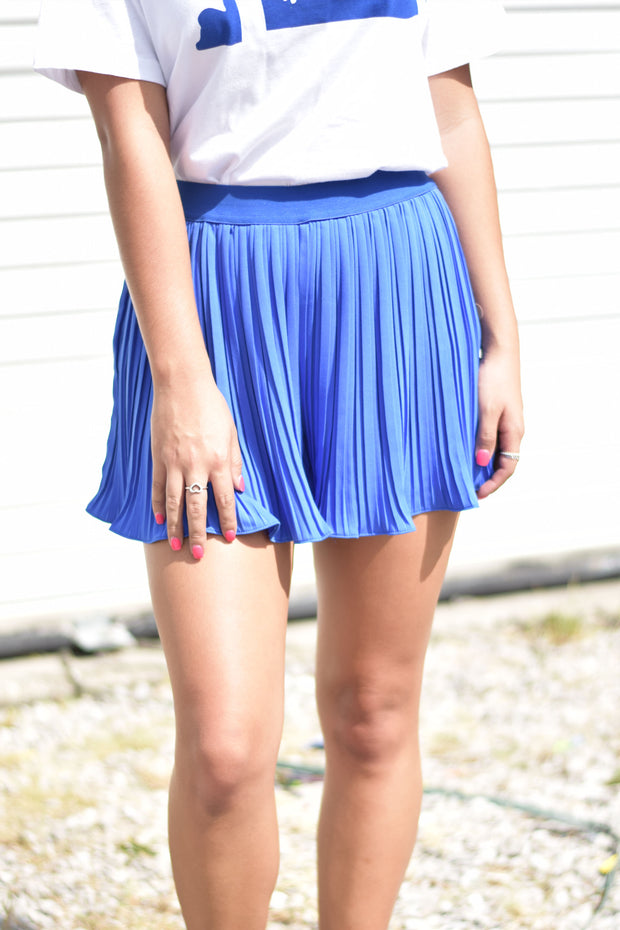 Wylie Pleated Shorts - Royal Blue