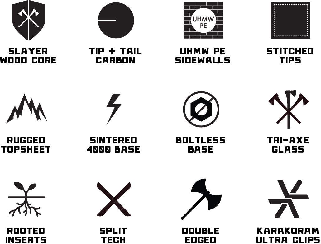 Weston Range Splitboard Tech Icons