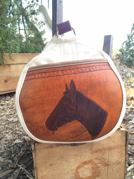 Rodeo Gear Bag with Custom Leather End Pockets