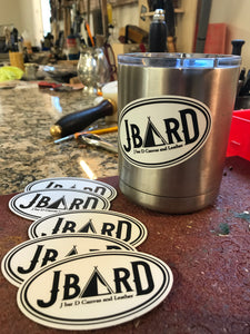 J bar D Logo Stickers