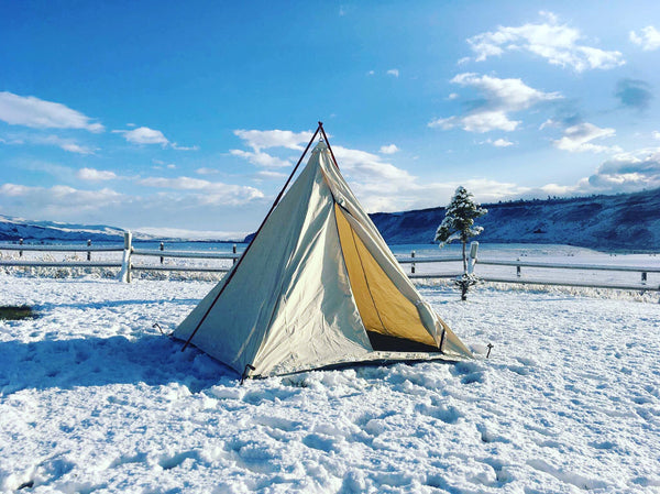 Our Cowboy Range Tipi/Teepee is fully ready to set up with an L zipper door, canvas floor and include poles, stakes and tent bag.
