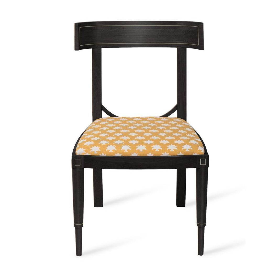 Aegean Klismos Chair - Brass Inlay - COM - Dowel Furniture