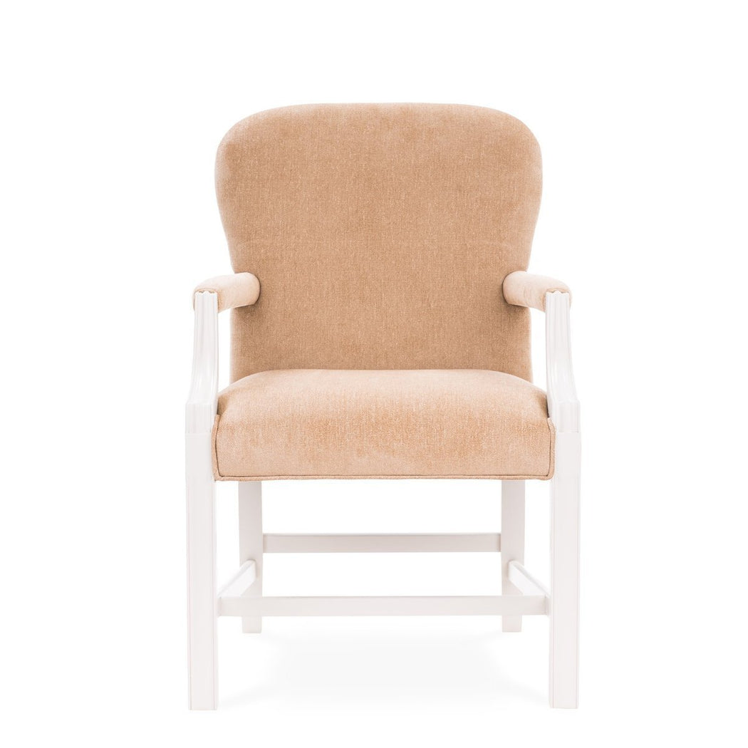 Ellen Upholstered Arm Chair - COM - Dowel Furniture