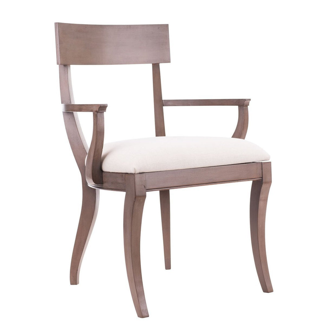 Grace Klismos Arm Chair - COM - Dowel Furniture