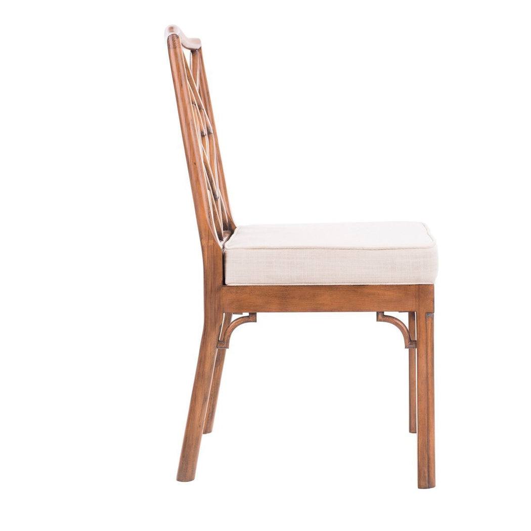 James Chinese Chippendale Side Chair - COM - Dowel Furniture