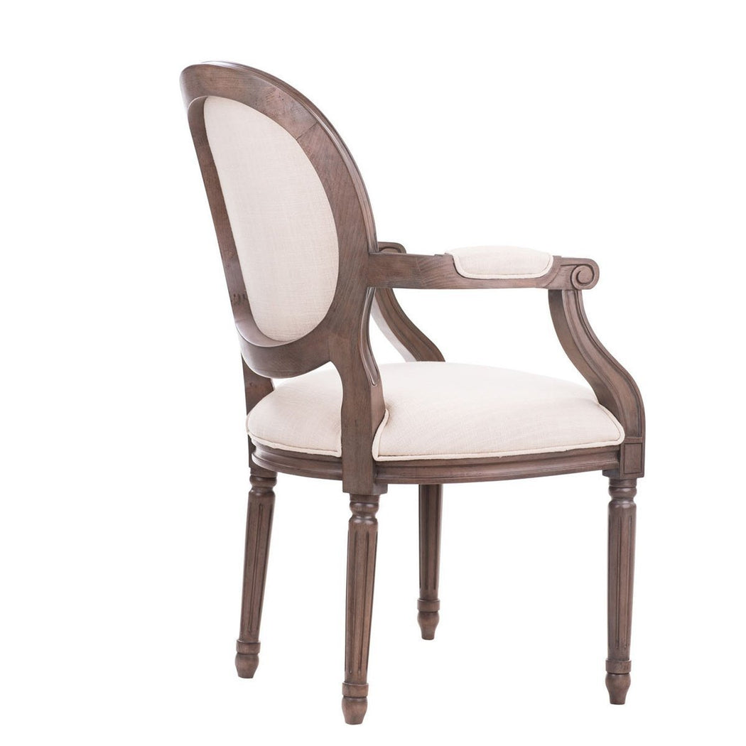 Regine Louis XVI Arm Chair - COM - Dowel Furniture