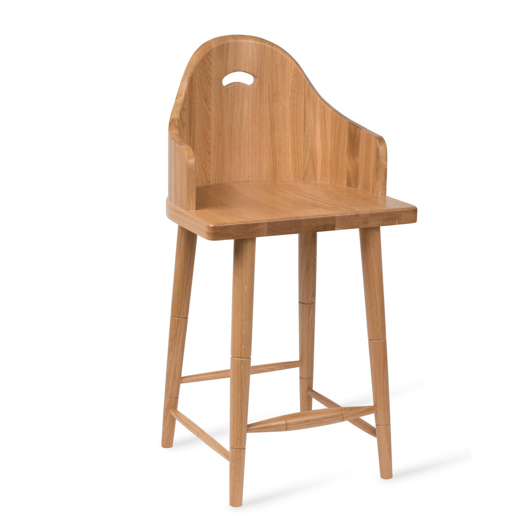 Scooped Back Bar Stool - Dowel Furniture