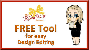 FREE Tool for Ribbon  Print Design Editing