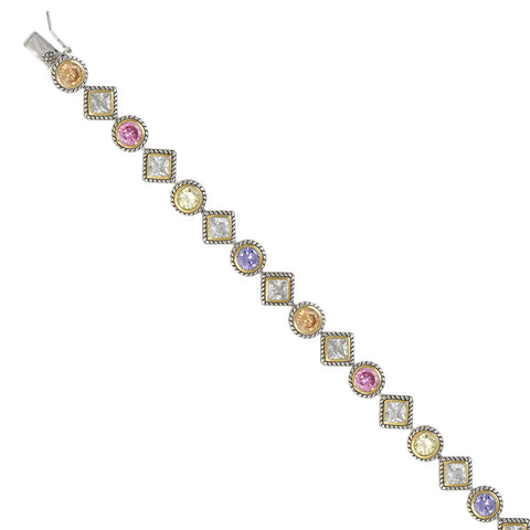 ANTIQUE MULTI COLOR STONE BRACELET DIAMOND CZ FASHION JEWELRY
