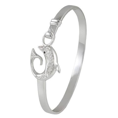DIAMOND DOLPHIN BANGLE BRACELET