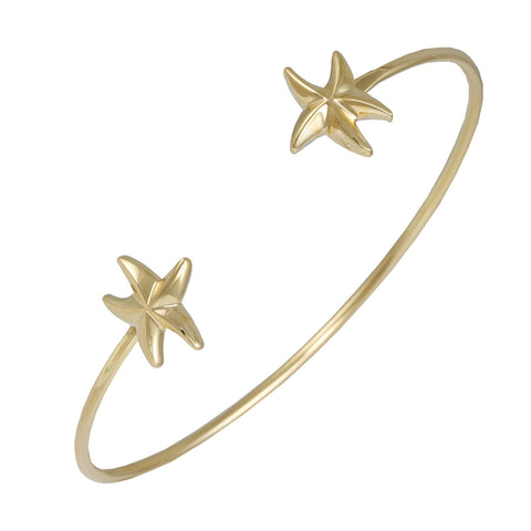 GOLD STARFISH SEA LIFE BANGLE BRACELET