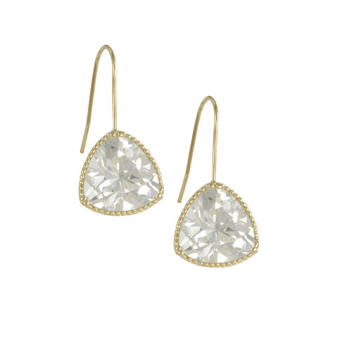 BIANCA'S<BR>GOLD TRIANGLE DIAMOND EARRINGS