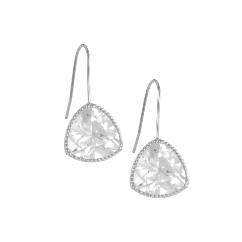 ANYA'S<BR>DIAMOND TRIANGLE EARRINGS