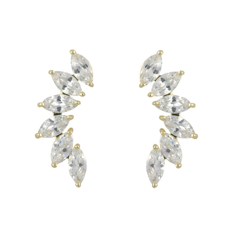 ELEANORA'S<BR>GOLD CRAWLER EARRINGS