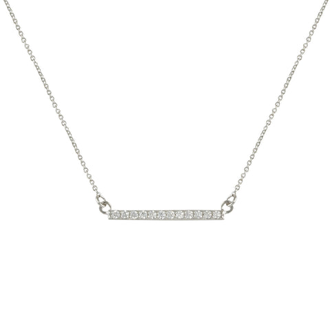 GENESIS'<BR>DIAMOND BAR NECKLACE