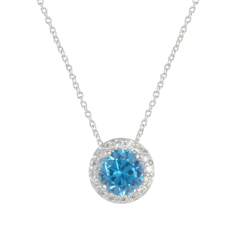 SILVER BLUE TOPAZ NECKLACE