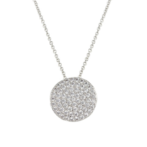 EDEN'S<BR>CURVED PAVE CIRCLE PENDANT