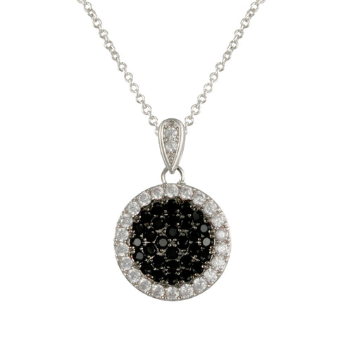 BRIELLE'S<BR>JET CZ PAVE NECKLACE