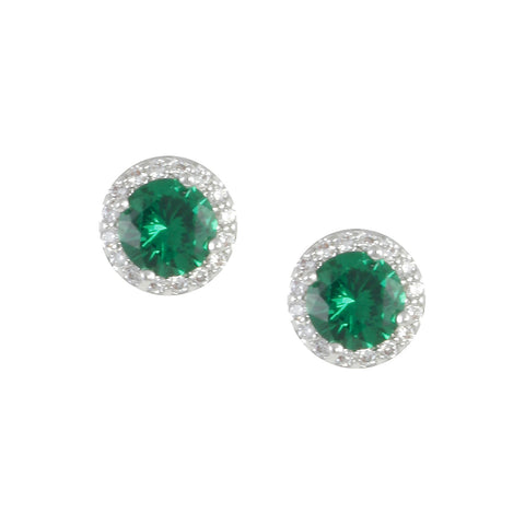 JEWEL'S<br>EMERALD BIRTHSTONE STUDS