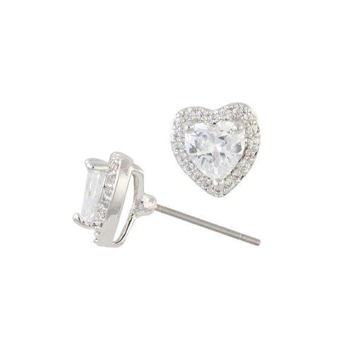 WILLOW'S<BR>DIAMOND HEART STUDS