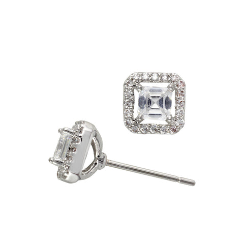 DESTINY'S<BR>SQUARE DIAMOND CZ STUDS