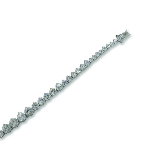 GRADUATING DIAMONDS TENNIS BRACELET FASHION JEWELRY