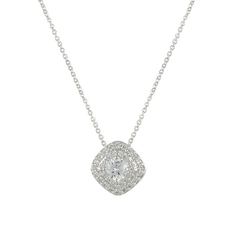 ALESSANDRA'S<br>CZ HALO NECKLACE - Gem Box