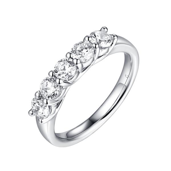 5 Diamond Prong Band
