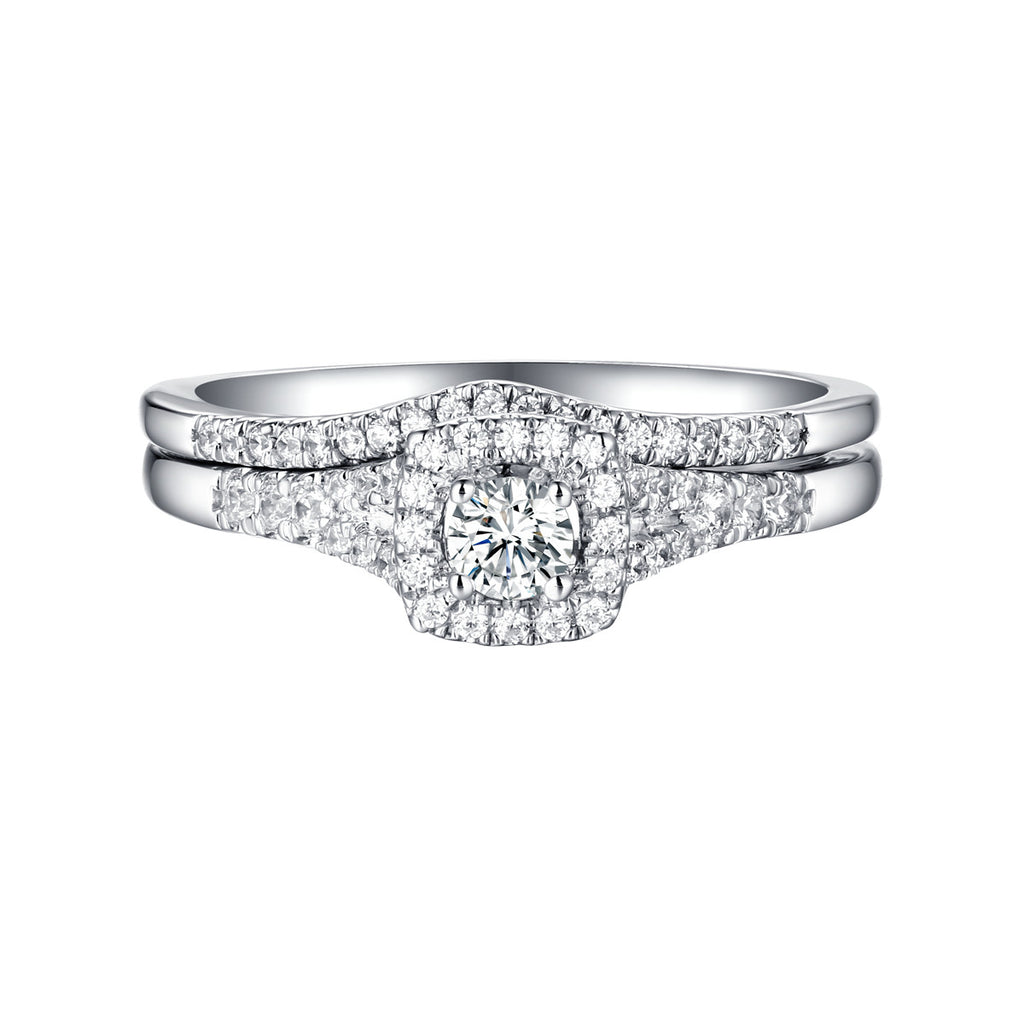 Beau Diamond Engagement Ring S201849A and Band Set S201849B